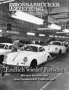 Unser iPad-Titelthema: Heute wird die Boxster-Produktion am neuen alten Porsche-Montagestandort Osnabrück offiziell eingeläutet... www.noz.de