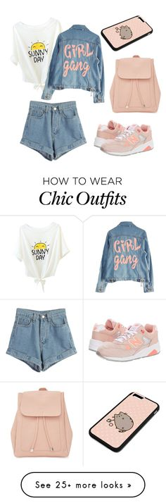 """""""#1 """" by kanaevaa on Polyvore featuring WithChic, New Balance, New Look, Pusheen and High Heels Suicide"""