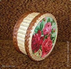 Поделка изделие Плетение Шкатулочки Трубочки бумажные фото 7