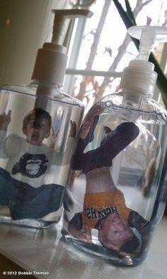 hilarious #diy #project! - transfer #photos into a soap dispenser