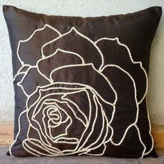 Enchanted Rose  Pillow Sham Covers  24x24 Inches by TheHomeCentric