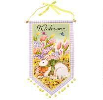 """Welcome"" Easter Bunny Pom Pom Banner"