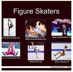 My life as a figure skater.