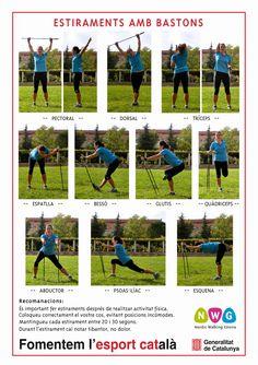Stretching for Nordic Walking Marathon, Nordic Walking Sticks, Bushcraft, Gym Douce, Walking Poles, Walking Exercise, Low Impact Workout, Interval Training, Physical Activities