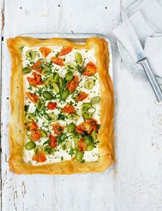 Simple goat's curd, olive and tomato tart A simple goat's cheese recipe that tastes as good as it looks. Whip up this impressive looking tart for a night with friends at your next dinner party