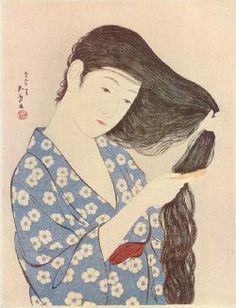 "ami Wo Sukiru Onna  ""A Woman Combing her Hair"", March 1920"