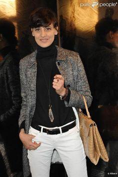 Inès de la Fressange lors du défilé Chanel Haute Couture P/E 2011 à Paris le 25 janvier 2011