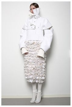 Conceptual Fashion Design - constricted jacket & textured skirt; sculptural fashion // Patrik Guggenberger