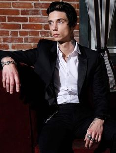 Image result for andy biersack in a suit