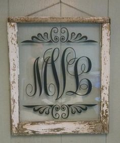 Monogram Vintage Window Personalized For by VaughnCustomCreation MONOGRAM NEW DESIGN. Last Name. First Name. Middle Name. Vintage Window. Old Window. Antique Window. Vinyl. Personalized for you. More frames and vinyl colors available