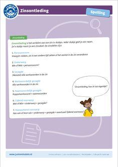 Spelling For Kids, Learn Dutch, Home Activities, Writing Tips, Grammar, Einstein, Language, Teaching, Speech And Language