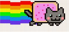 Nyan Cross Stitch Pattern by ~moonprincessluna on deviantART