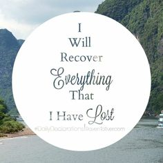 #DailyDeclarations I Will Recover Everything That I Have Lost!  Whatever Yahweh did before, He's still capable and willing to do today. Therefore, His promises are still for today!  ✡Instead of your shame there shall be a double portion; instead of dishonor they shall rejoice in their lot; therefore in their land they shall possess a double portion; they shall have everlasting joy.- Isaiah 61:7 ✡Return to your stronghold, O prisoners of hope; today I declare that I will restore to you…