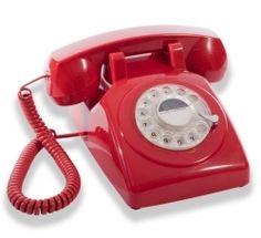 GPO 1970's Classic Rotary Dial Retro Telephone  - Red