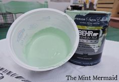 DIY Homemade Chalk Paint. Check out our recipe at http://themintmermaid.blogspot.com/2014/04/chalk-paint-recipe.html.