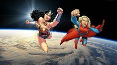 Wonder Woman & Supergirl In Space wallpaper