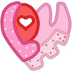 Applique Love Heart - 3 Sizes! | Valentine's Day | Machine Embroidery Designs | SWAKembroidery.com