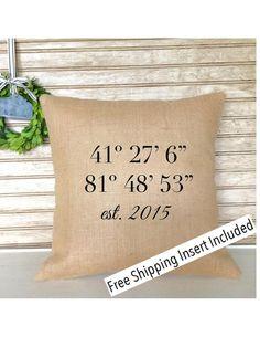 Longitude  Latitude  Housewarming Gift  New by SimplyFrenchMarket