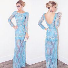 Instagram media vestidosxx - @fesena usando Patricia Bonaldi azul candy! Gostaram?!  #vestidos #dress #dresses #patriciabonaldi #inspiracao #inspiration #inspiração #festa #glamour #partiu #fashion #ootd