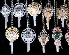 Vintage Key Steampunk Necklace Vintage Steampunk Gear by LilyMairi