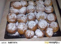 Hrníčkové koblihy recept - TopRecepty.cz Czech Recipes, Pretzel Bites, Quiche, Muffin, Food And Drink, Bread, Baking, Breakfast, Sweet