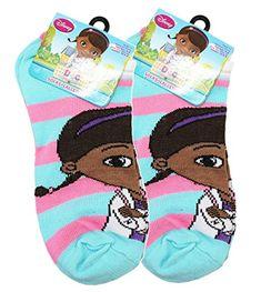 cf4593f3e Doc McStuffins Disney s Doc McStuffins Pink and Light Blue Striped Socks (2  Pairs