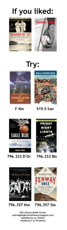 On the bookmark: books like SEASON OF '42 and MONEYBALL.