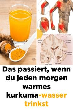 Das passiert wenn du jeden Morgen ein Glas Kurkuma Wasser trinkst Cela se produit lorsque vous buvez un verre de curcuma tous les matins Weight Loss Water, Weight Loss Drinks, Best Weight Loss, Lose Weight, Turmeric Curcumin Benefits, Turmeric Water, Turmeric Pills, Buy Turmeric, Turmeric Vitamins