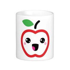 Cute red kawaii apple cup