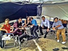 Only like one or two people are in the right seat! Lol. Alex O'Loughlin, Michelle Borth, Daniel Dae Kim, Grace Park, Scott Caan, and Masi Oka.