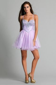 2014 Pretty Prom Dresses Sweetheart Beaded Bodice A Line With Spaghetti Straps Tulle