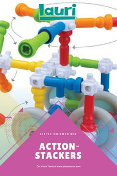 Lauri Action-Stackers are the perfect STEM Engineering toy for your preschooler or toddler, with new connectors that allow children to build in new directions, and wheels that allow movement; this set is both fun and educational! Teaching Science, Science Experiments, Engineering Toys, Classic Toys, Fun Learning, Educational Toys, Gift Guide, Preschool, Wheels