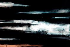 John Virtue: North Sea Paintings and Monotypes @ Marlborough Fine Art - Eloge de l'Art par Alain Truong Seascape Paintings, Landscape Paintings, Painting Art, Abstract Landscape, Abstract Art, Norfolk, Contemporary Art Artists, Art Minimaliste, Environment Painting