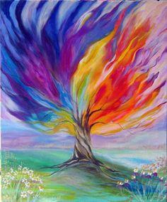 Árbol de la vida pinturas sobre lienzo por QuiltedandArtatDeana