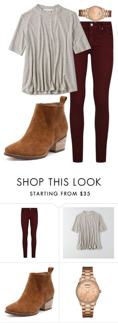 Untitled #537 by karinasoto39 on Polyvore featuring American Eagle Outfitters, Paige Denim and GUESS