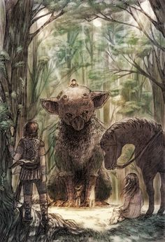 Shadow of the Colossus, Ico e Last Guardian Game Design, Video Game Art, Dark Souls, Fantasy Creatures, Mythical Creatures, Fantasy Art, Artwork, Cool Art, Concept Art