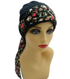 Chemo hat with scarf set, headcovers for cancer patients and others with medical hair loss. Improved design. Made in SA