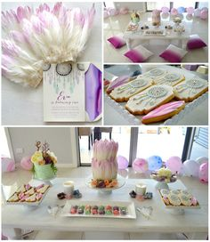 Bohemian Teepee Themed 1st Birthday Party via Kara's Party Ideas KarasPartyIdeas.com Cake, banners, desserts, printables, tutorials, and more!