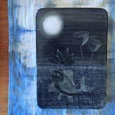 Image of Goldfish & Lotus Art Tile
