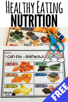 Free PDF that has a education nutrition activity for kids