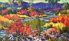 Najlenivejší River od jill charuk olej ~ 40 x 60