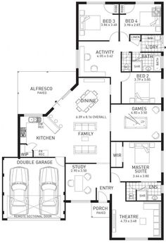 Change the study to a mudroom/bootroom/laundry room with access to garage. Make the theatre into walk in Change the study to a mudroom/bootroom/laundry room with access to garage. Make the theatre into walk in closet and make the bathroom bigger. House Layout Plans, Dream House Plans, House Layouts, House Floor Plans, The Plan, How To Plan, Bedroom Closet Design, Master Bedroom Closet, Bathroom Closet