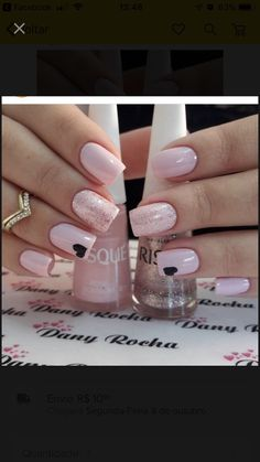 #Ich möchte  #ich #mochte Cute Gel Nails, Fancy Nails, Trendy Nails, Fabulous Nails, Perfect Nails, Pale Pink Nails, Valentine Nail Art, Holiday Nails, Nail Manicure