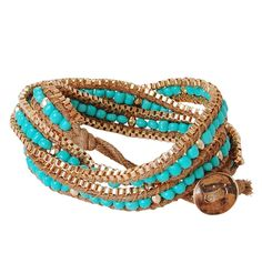 Beaded Wrap Bracelet - Wrap Bracelet - www.humblechic.com #turquoise