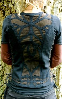 Devi Clothing: Goddess tribal pixie wear with leaf and nature patterns ··· | ··· Your Fantasy Costume