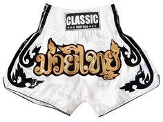 Calção Short Muay Thai Classic : CLS-016-Branco