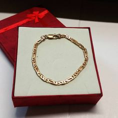 Gliederarmband Gold 333 Armband Vintage edel GA107