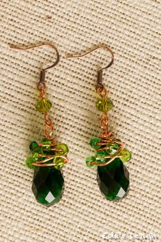 Gorgeous emerald green earrings!   Get 10% off on these beauties. Use code: THANKS10!
