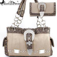 Montana West Buckle Handbag in Bronze Western « Clothing Impulse