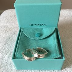 "SALERARE Tiffany&Co 1837 Square Hoop Earrings. Tiffany & Co 1837 Square Hoop Earrings. VERY RARE! Authentic Tiffany & Co. .925 Sterling silver. Earrings read ""T & CO"", ""1837"", & ""925"" as shown in pictures. Measurements shown in pictures. Pre-loved and still fabulous! Tiffany & Co. Jewelry Earrings"